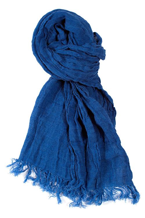Leinenschal blau.